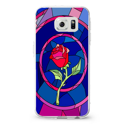 Beauty and Beast rose glass