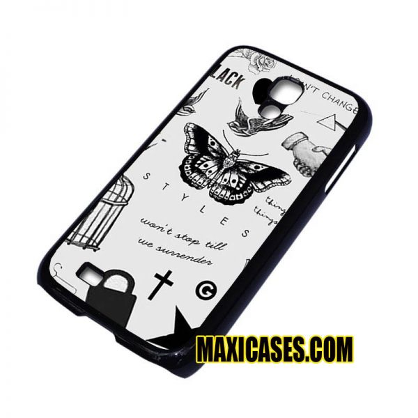 1D harry style tattoos samsung galaxy S3,S4,S5,S6 cases