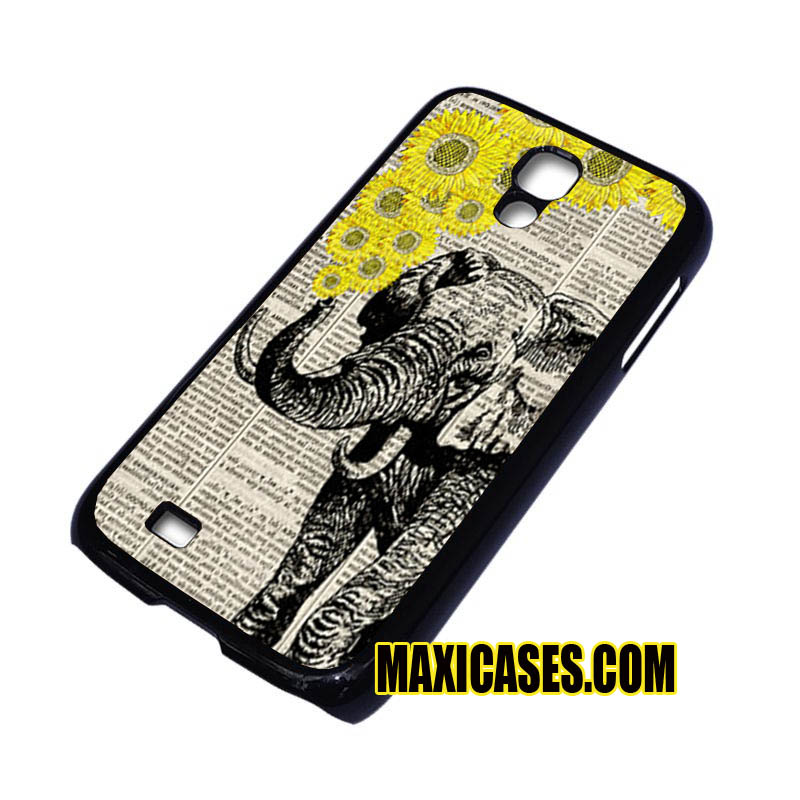 elephant with sunflowers Galaxy samsung galaxy S3,S4,S5,S6 cases