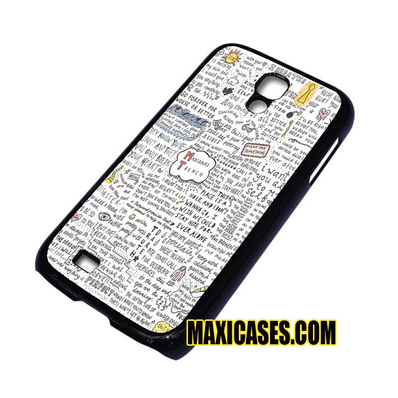marianas trench lyrics iPhone 4, iPhone 5, iPhone 6 cases
