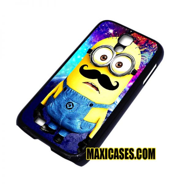 minions galaxy with mustache iPhone 4, iPhone 5, iPhone 6 cases