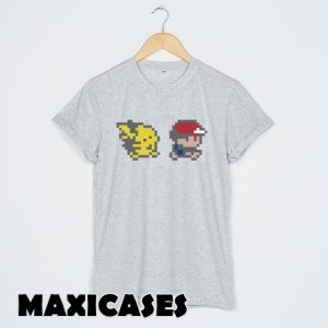 Ash and Pikachu Pokemon T-shirt Men, Women and Youth
