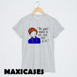 Ed Sheeran The A Team Lyrics Cartoon T-shirt Men, Women and Youth