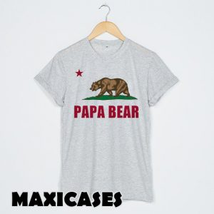 Papa Bear Flag of California T-shirt Men, Women and Youth