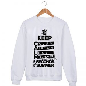 5 second of summer Sweatshirt Sweater Unisex Adults size S to 2XL