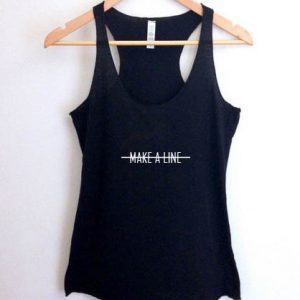 Make a line tank top men and women Adult