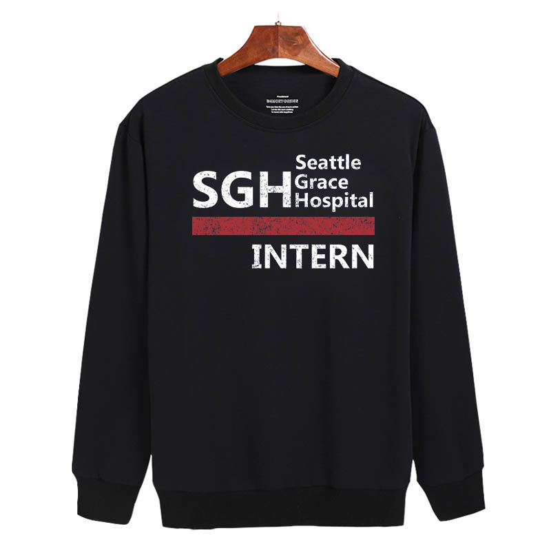 Seattle Grace Hospital Intern Sweatshirt Sweater Unisex Adults size S to 2XL