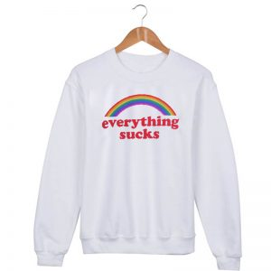 everything sucks rainbow Sweatshirt Sweater Unisex Adults size S to 2XL