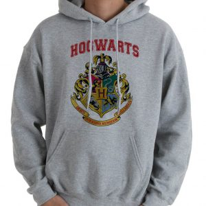 Hogwarts logo Harry potter Hoodie Unisex Adult size S - 2XL