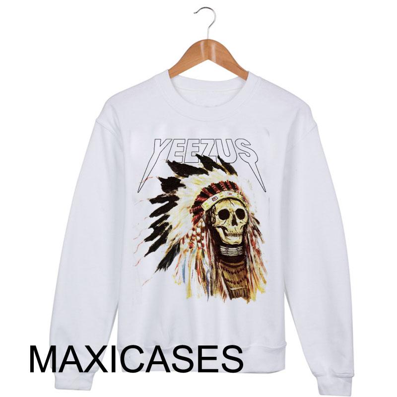 Kanye west yeezus tour indial skull Sweatshirt Sweater Unisex Adults size S to 2XL