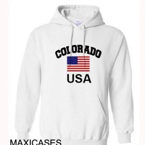 Colorado USA Hoodie Unisex Adult size S - 2XL