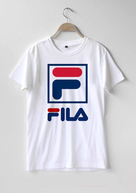 a9c3ce84f29b Fila Logo T Shirt Men Women And Youth