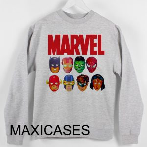 Marvel face Sweatshirt Sweater Unisex Adults size S to 2XL