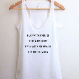Play with fairies tank top men and women Adult