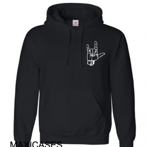 Rock On Hand Hoodie Unisex Adult size S - 2XL