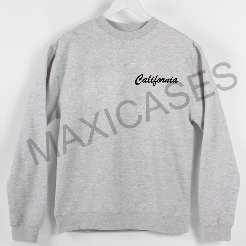 California Sweatshirt Sweater Unisex Adults size S to 2XL