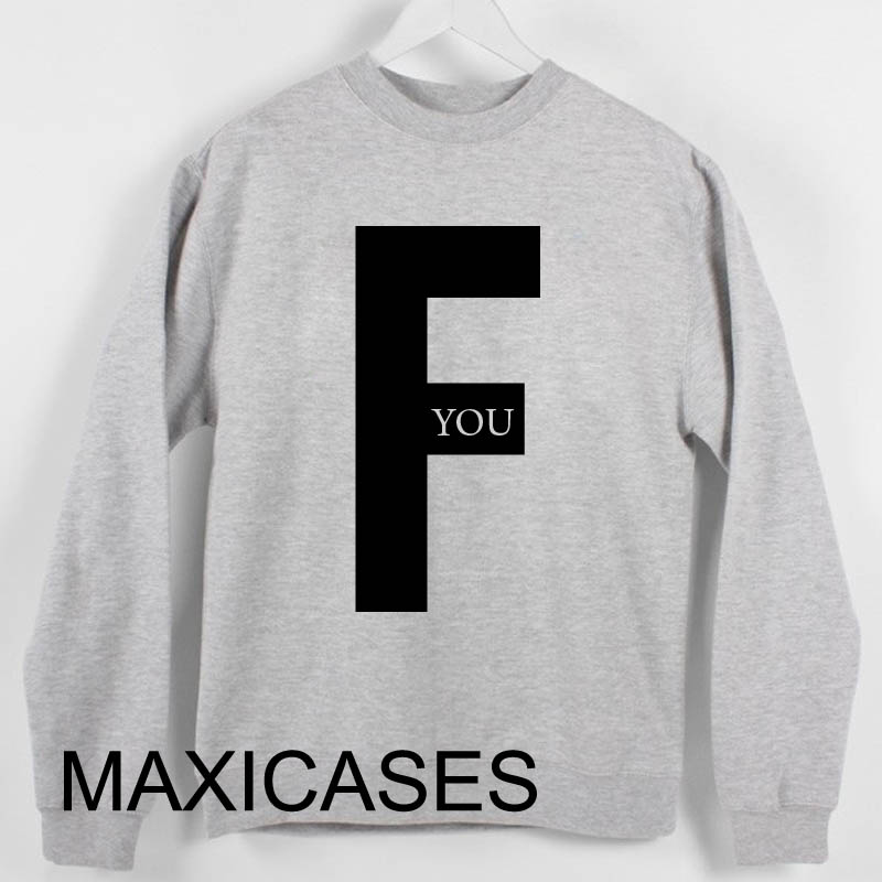 F you logo Sweatshirt Sweater Unisex Adults size S to 2XL