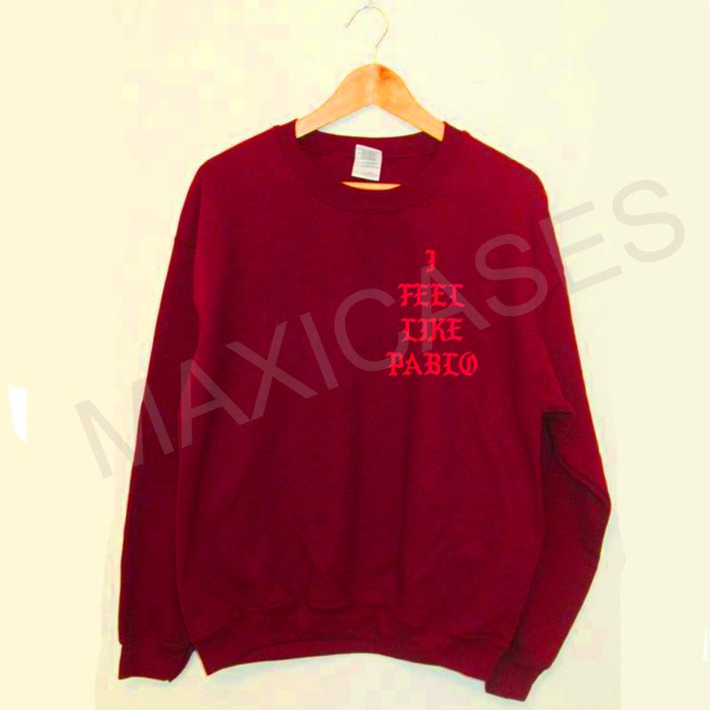 I feel Like Pablo Kanye West Sweatshirt Sweater Unisex Adults size S to 2XL