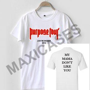 Justin Bieber purpose tour T-shirt Men, Women and Youth