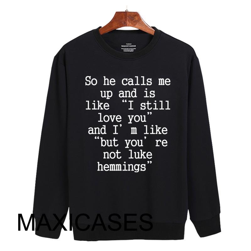 Luke Hemmings 5 second of summer Sweatshirt Sweater Unisex Adults size S to 2XL