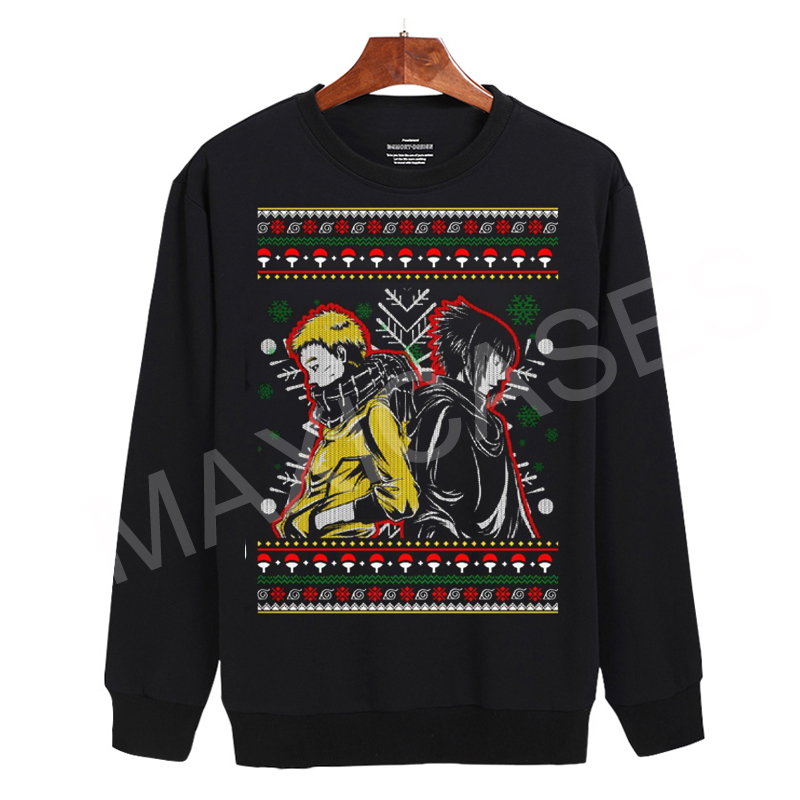 Naruto and sasuke ugly christmas Sweatshirt Sweater Unisex Adults size S to 2XL