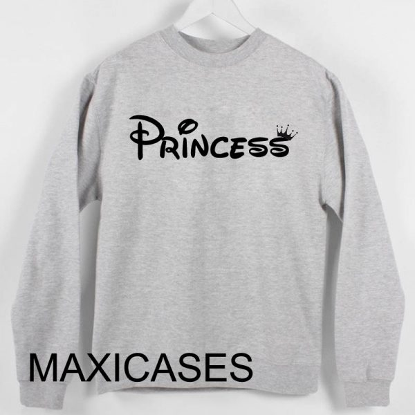 Princess logo Sweatshirt Sweater Unisex Adults size S to 2XL