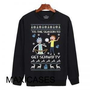 Rick And Morty Ugly Christmas Sweatshirt Size S to 3XL Unisex Adult