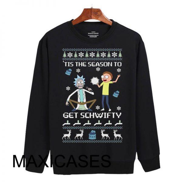 Rick And Morty Ugly Christmas Sweatshirt Size S to 3XL Unisex Adult