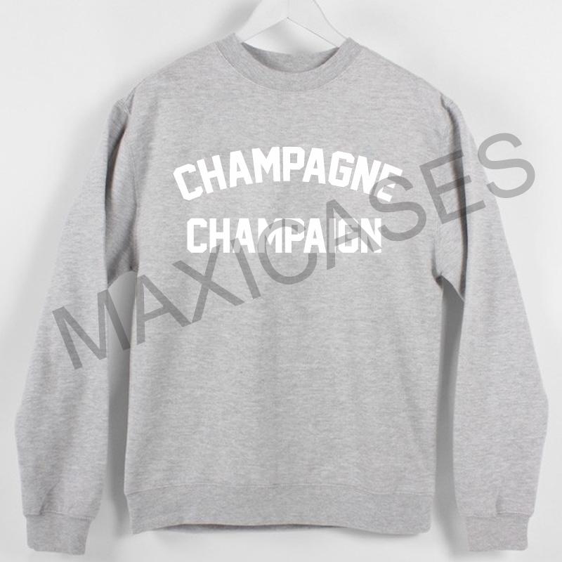 Champagne champaign Sweatshirt Sweater Unisex Adults size S to 2XL