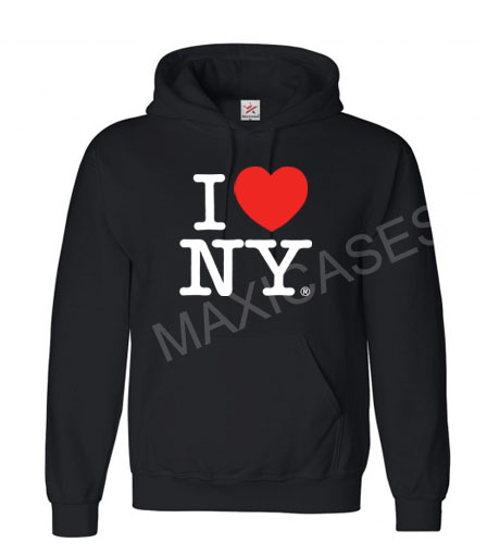 I Love New York Hoodie Unisex Adult size S - 2XL