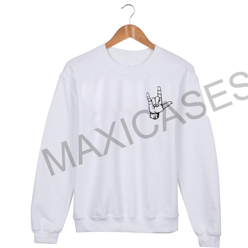 Rock hand Sweatshirt Sweater Unisex Adults size S to 2XL