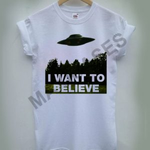 X-fles I Want To Believe T-shirt Men Women and Youth
