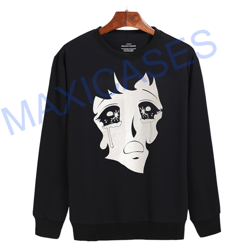 Cry Manga Face Sweatshirt Sweater Unisex Adults size S to 2XL
