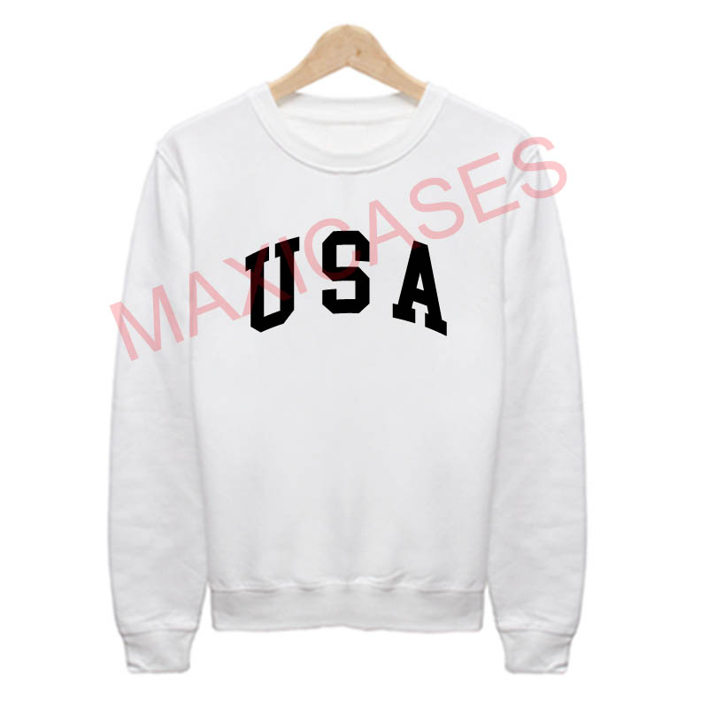 USA logo Sweatshirt Sweater Unisex Adults size S to 2XL