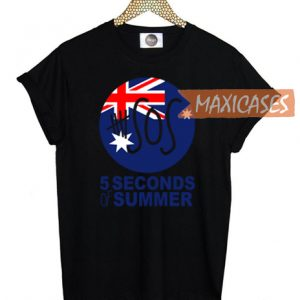 5 second of summer australia flag cozy T-shirt Men Women and Youth