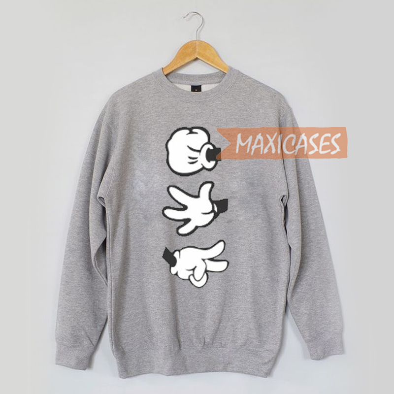 Mickey mouse hands Sweatshirt Sweater Unisex Adults size S to 2XL