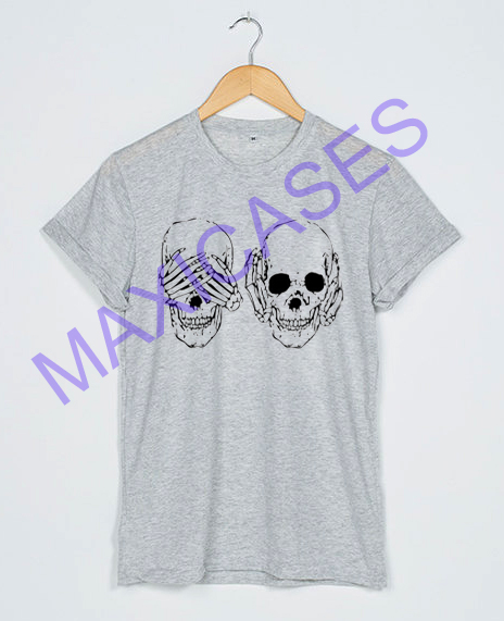 Hear see no evil skull T-shirt Men Women and Youth