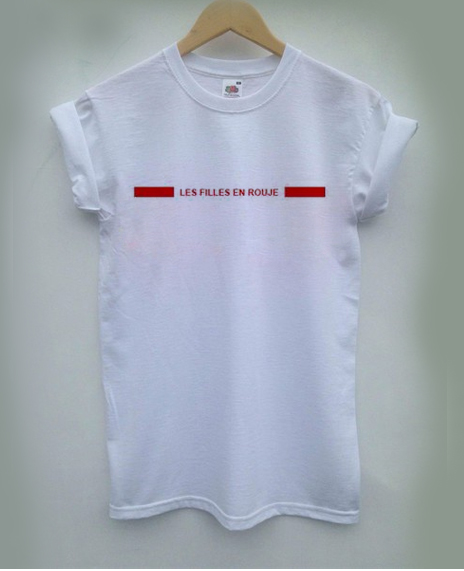 filles en rouje T-shirt Men Women and Youth