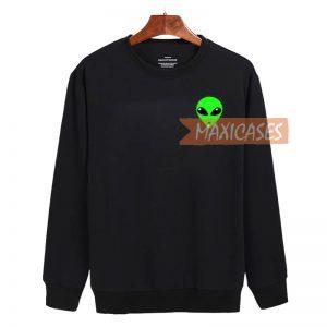 Alien Green Sweatshirt Sweater Unisex Adults size S to 2XL