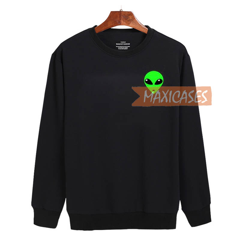 Alien Green Sweatshirt Sweater Unisex Adults size S to 2XL