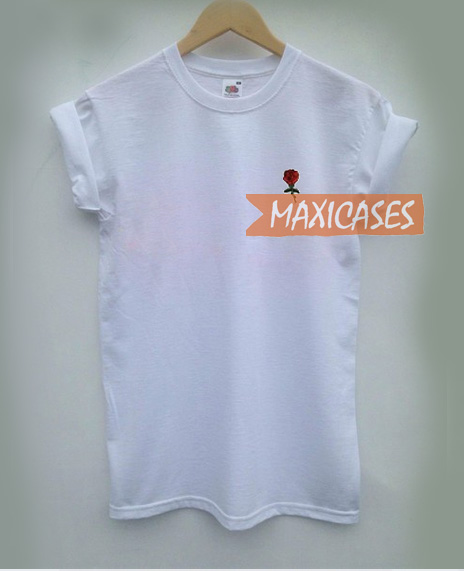 Rose red T-shirt Men Women and Youth