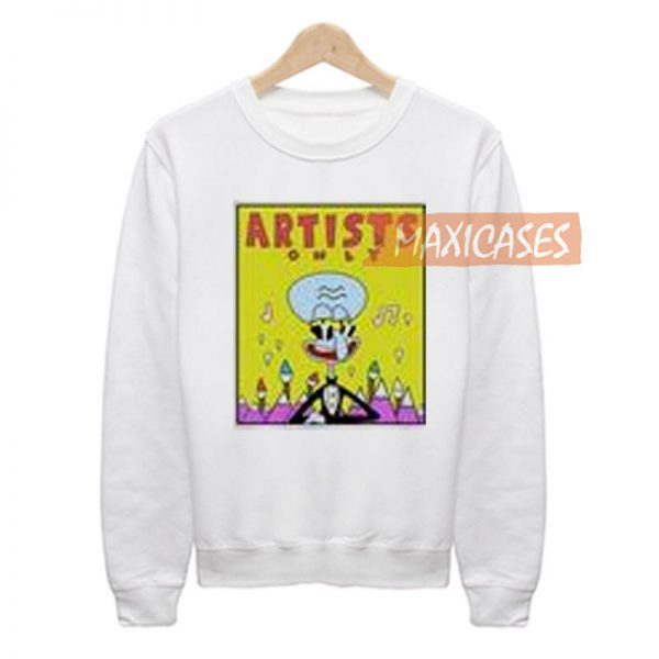 SpongeBob Artists Only Squidward Sweatshirt Unisex Adult