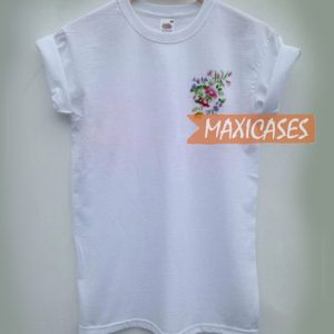 Flower Embroidery Cheap Graphic T Shirts for Women, Men and Youth