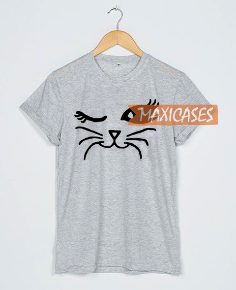 Winking Cat Cheap Graphic T Shirts For Women Men And Youth