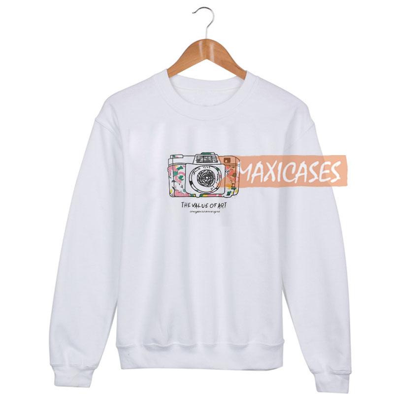 Camera Print Sweatshirt Size S to 3XL Unisex Adult