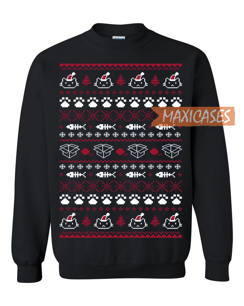 Ugly Christmas Sweater Cat.Cat Ugly Christmas Sweater Unisex Size S To 3xl