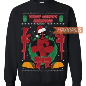 Superhero Ugly Christmas Sweaters.Deadpool Holiday Ugly Christmas Sweater Unisex Size S To 3xl