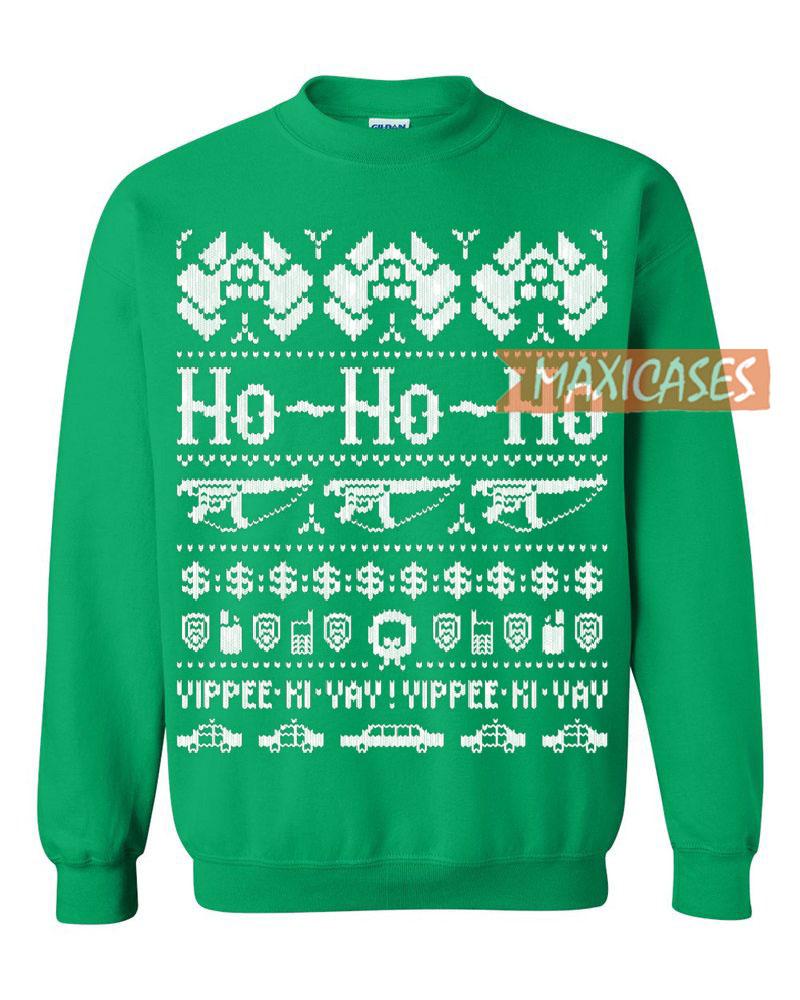 die hard ugly christmas sweater green