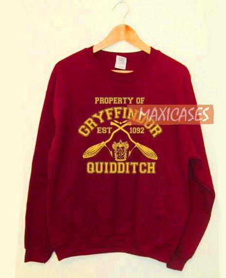 9882432d4 Property Of Gryffindor Quidditch Harry Potter Sweatshirt Unisex