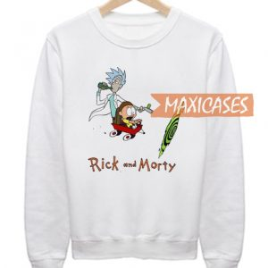 Rick and Morty Parody Calvin and Hobbes Sweatshirt
